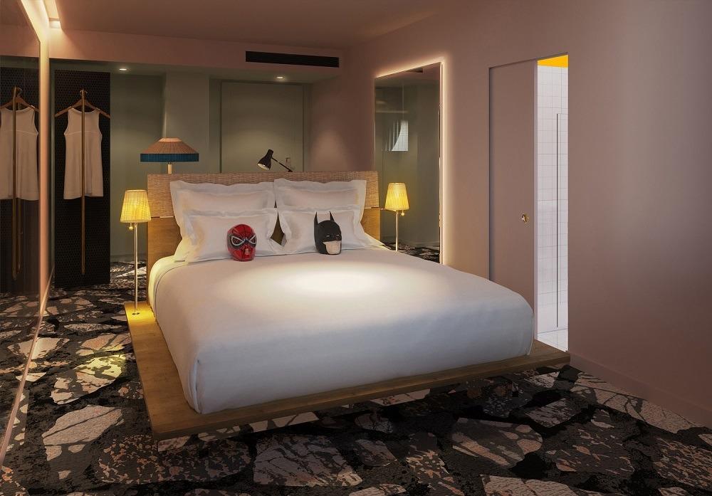 Sharing Hotel Zimmer Schritt Mama